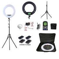 Anillo lámpara traje Yidoblo FE-480II bicolor Anillo de luz LED iluminación fotográfica Selfie luz LED de estudio trípode + bolsa + batería