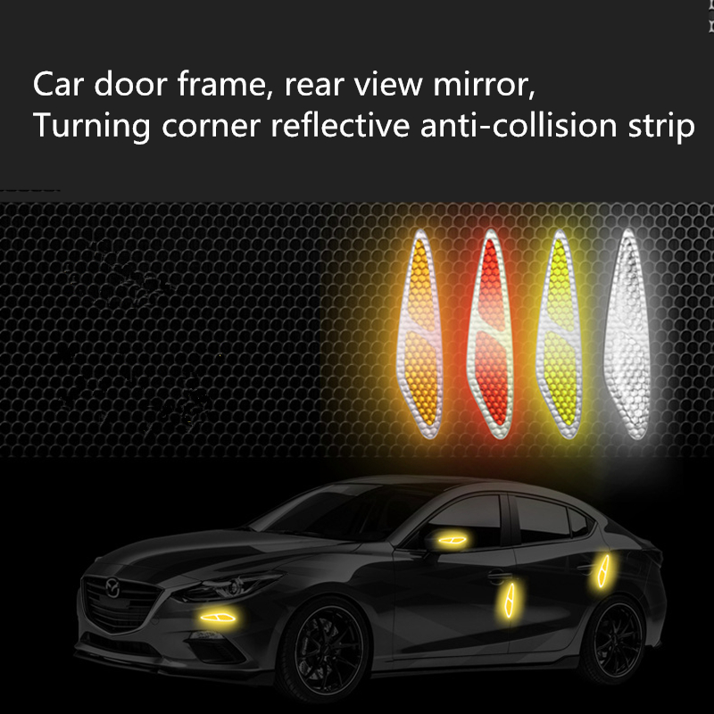 Reflector Sticker Reflectante Reflective Tape Car Exterior Accessories Styling Mouldings Reflective Door Sticker Reflex Car Tape