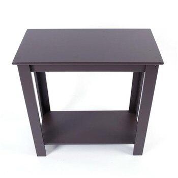 Mesa de noche marrón de alta calidad MDF Simple de dos capas mesita de noche