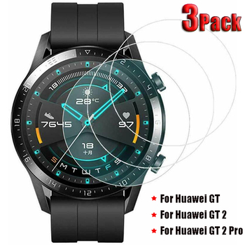 3Pack Tempered Glass Screen Protectors for Huawei Watch GT 2 Pro Explosion Proof Anti Scratch Smartwatch Protective Glass 1