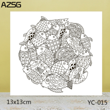 ZhuoAng A group of fish Clear Stamps For DIY Scrapbooking/Card Making Decorative Silicon Stamp Crafts