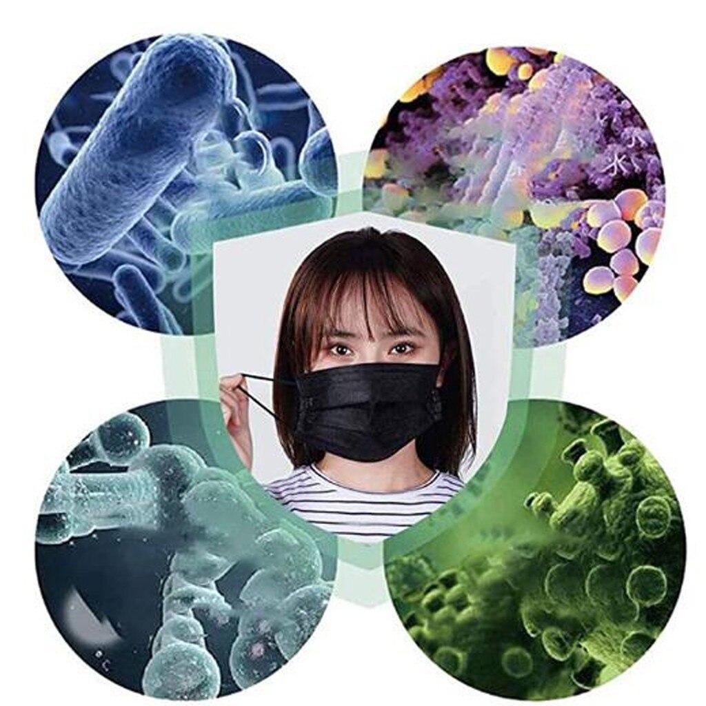 1/2/10/20 pces preto rosa amarelo máscara protetora à prova proteger rosto boca capa ao ar livre para segurar seguro máscara facial para ao ar livre 5