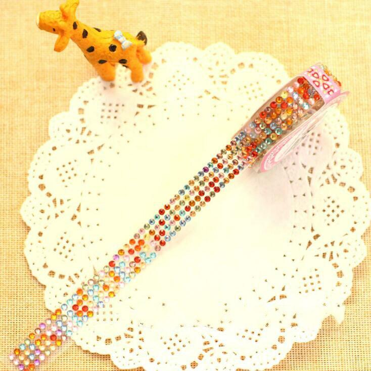 1 рулон акриловые бриллиантовые наклейки лента DIY ручной работы ремесло и художественные игрушки Материалы альбом для скрапбукинга украшения для фоторамки GYH - Цвет: Dot