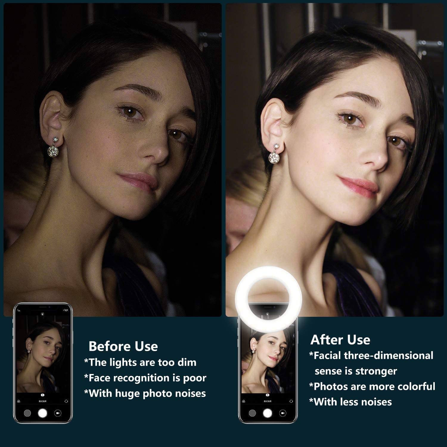 cheapest Selfie Light Ring Lights Led Circle Mini Light Clamp for Phones Rechargeable Clip-on Makeup Fill Light Laptop Camera  Video