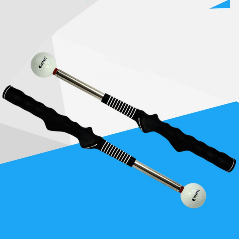 Outdoor Sport Golf Telescopic Swing Rod Golf Warm-Up Stick Golf Practice Training Aid Swing Trainer For Tempo Grip Strength