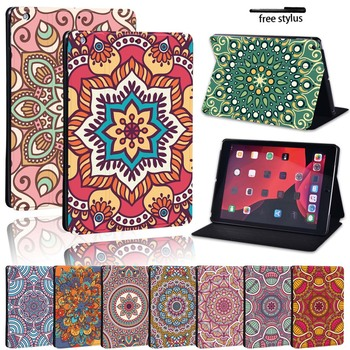 wood grain pu leather tablet cover for apple ipad air 1 ipad 5 stand case for ipad air 2 ipad 6 screen protector stylus pen Mandala Pu Leather Stand Cover Case for Apple IPad/iPad Mini/ IPad Air/iPad Pro Tablet Lightweight Durable Protective Case