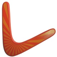 5PCS Wood Throwback V Shaped Boomerang Toy Set Dart Kids Toys Birthday Gifts Outdoor Flying Disc Throw Catch Game(China)