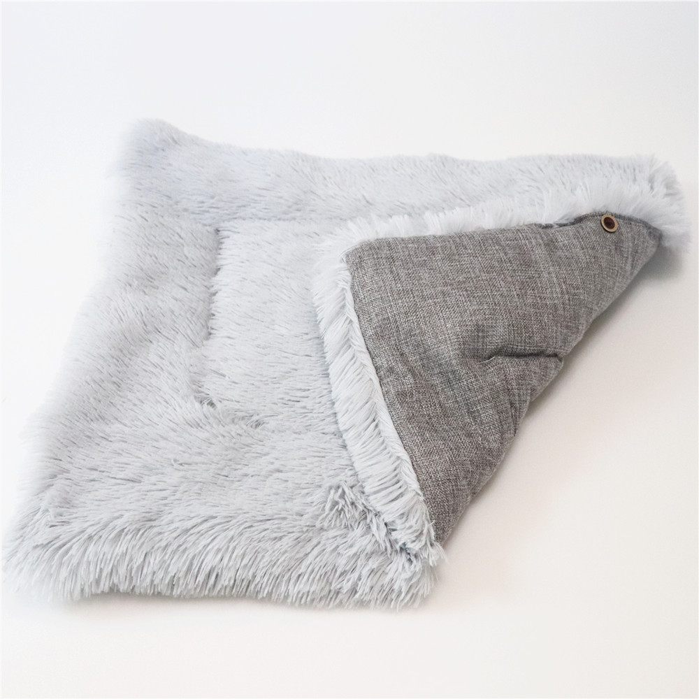 New Soft Cat Bed Rest Dog Blanket Winter Foldable Double use of pet bed matCushion Hondenmand Plush Soft Warm Sleep Mat 11