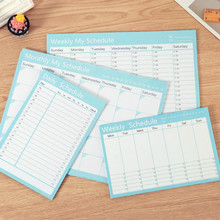 A4 Monthly Plan A5 Weekly Planner Notebook School Supplies Office 2019 2020 Agenda Organizer Diary Time Schedule Stationery Gift