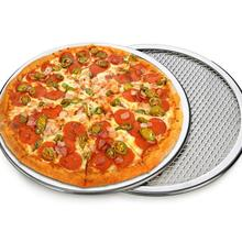 New Seamless Aluminum Pizza Screen Baking Tray Metal Net Bakeware Thickened Sheet Kitchen Tools 6-22inch