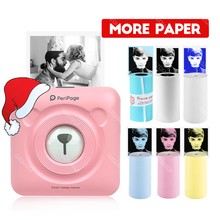Presente de natal para crianças meninas namorada casal móvel mini impressora térmica bluetooth 58mm peripage foto impressora portátil