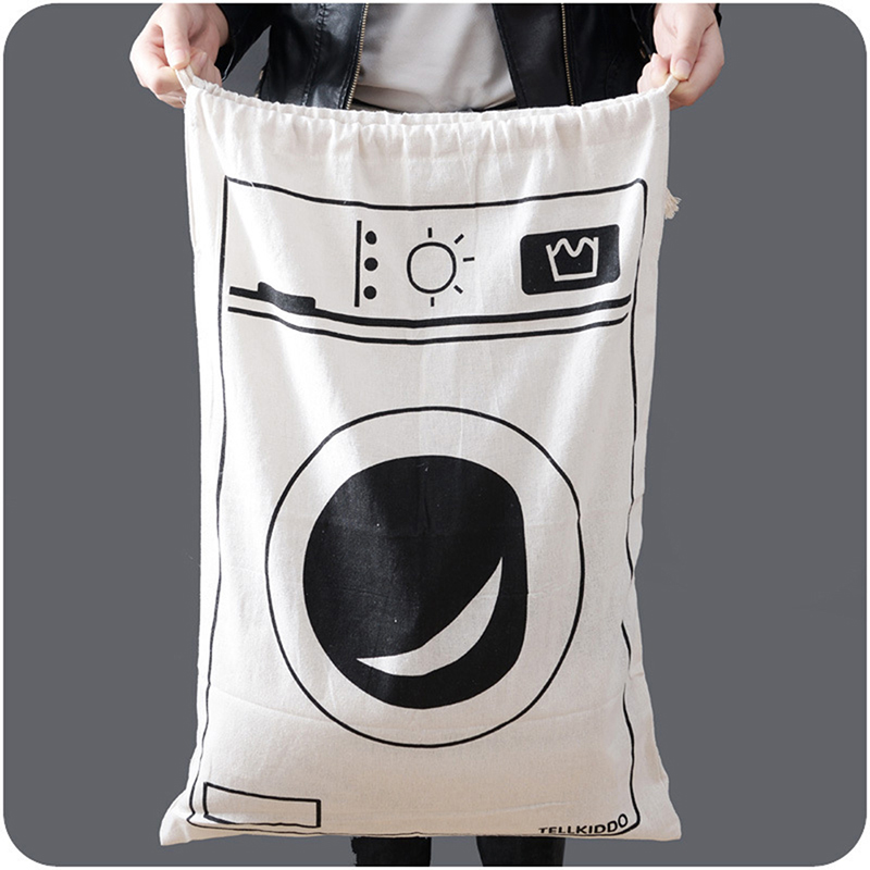 Cartoon Drawstring Bags Children Room Organizer Canvas Bags  Laundry Bag  65cm*45cm