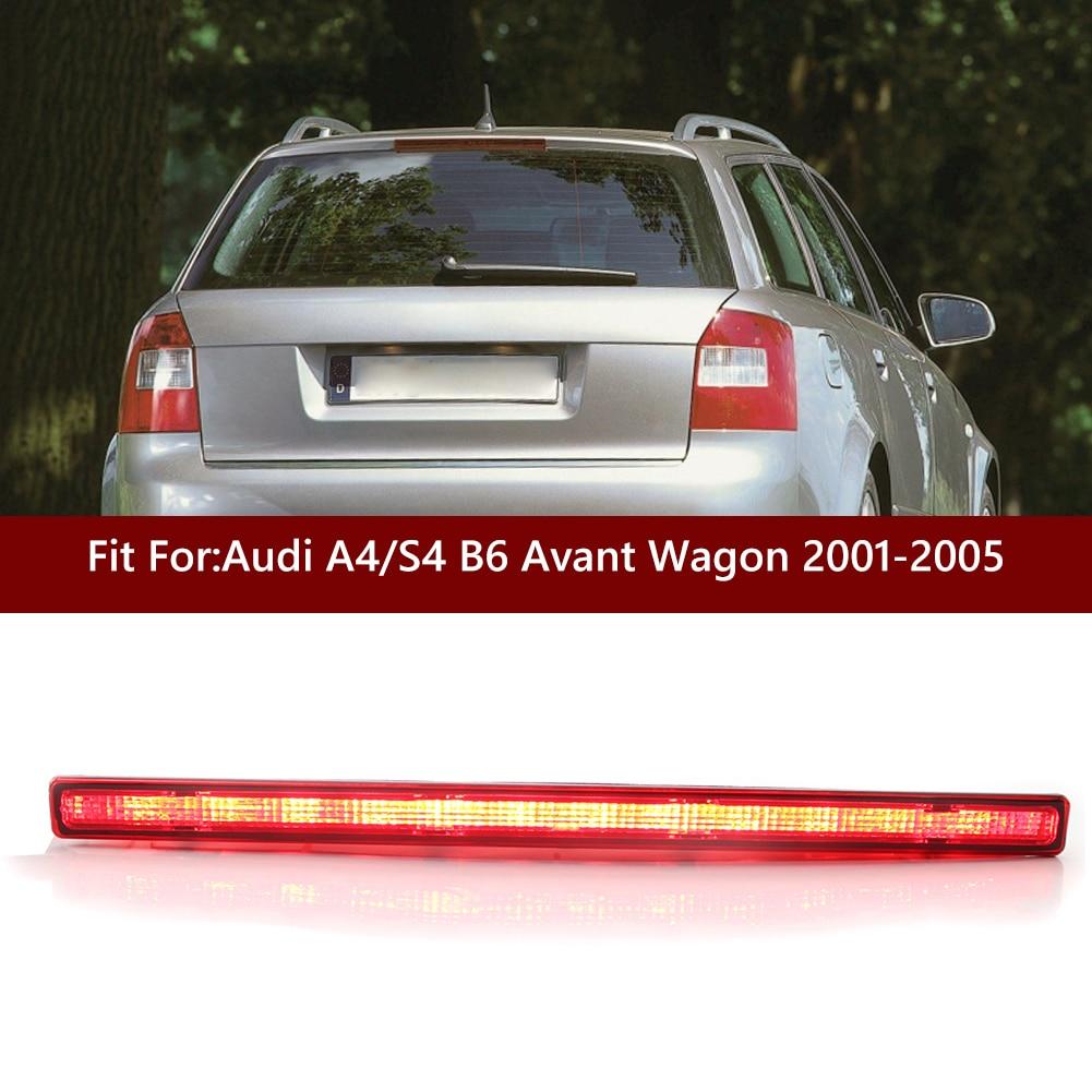 Тормозной фонарь светильник задний стоп-сигнал дымчатые линзы красный третий 3rd тормозной светильник для Audi A4 S4 B6 Авангард универсал 2001-2005