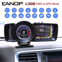 EANOP HUD OBD2 + GPS Head Up Display LCD digitale Scanner automatico viaggio Computer acceleratore Turbo Test freno per Auto universali L300