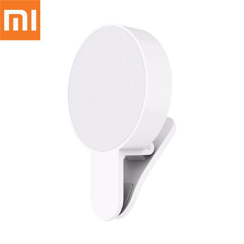 Original Xiaomi Mijia Yuemi Ring Selfie Light Up Flash Photography Luminous Lamp LED 3 Brightness For IPhone Samsung Phone