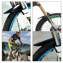 Bicycle Fenders Colorful Front/Rear Tire Wheel Fenders Carbon Fiber Mudguard Mountain Bike Road Cycling Fix Gear Accessories 1 pair mountain bike front rear mudguard set foldable bicycle fenders with led taillight cycling accessories