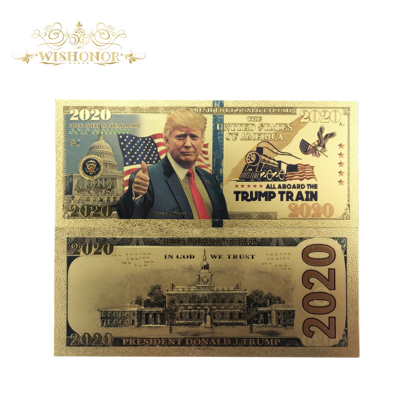 New Design For America 2020's Trump Banknote 2020 Dollars Banknote As Bill Currency Gifts