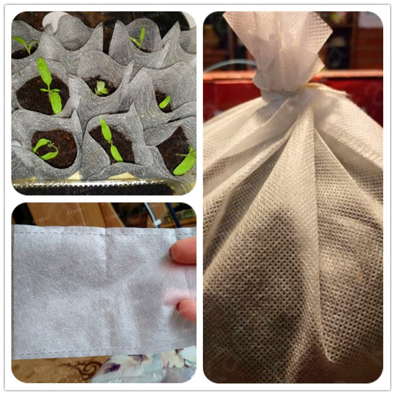 Seedling Raising Bags Plants Pouch Fiber Nursery Pots Garden Supplies pocket Plant Fiber Nursery Pots