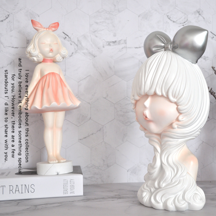 Angel Cute Girl Ornaments Home Desktop Resin Decoration Minimalist Cute Kissing  And Lucky Best Gift