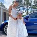 Летнее платье для мамы и дочки 2021 для матери и ребенка, одинаковые комплекты для семьи, для маленьких девочек, одежда для детей платья для де...