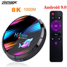H96 Max X3 S905X3 TV Box Android 9.0 Rockchip 4G 32GB 64GB 128GB Android TV Box 5.0G WIFI Bluetooth 4.1 8K 1000M Android Kotak(China)