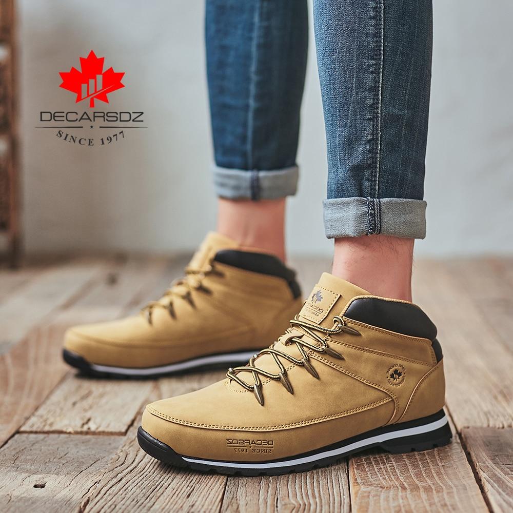 DECARSDZ Men Casual Boots 2021 New Men Fashion Shoes Man Brand Lace-up Winter Boots Men winter Boot Shoes Man Shoes Men's Boots 5