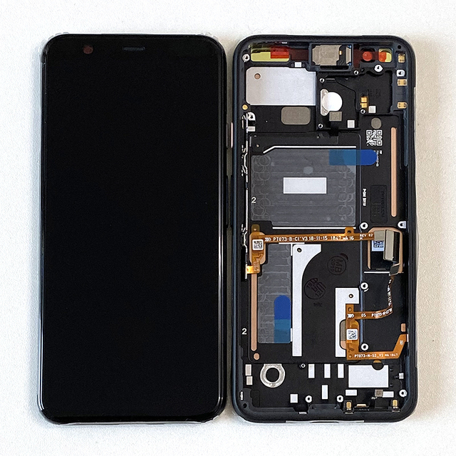 """5.7"""" Original Supor Amoled  M&Sen For Google Pixel 4 LCD Screen Display+Touch Panel Digitizer Screen With Frame"""