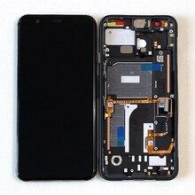 """5.7 """"מקורי Supor Amoled M & סן עבור גוגל פיקסל 4 LCD מסך תצוגה + מגע פנל Digitizer מסך עם מסגרת"""
