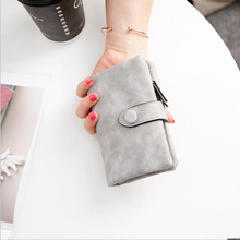 Women Wallets Girls Short Simple Purse Cute Card Holders PU Leather Soft