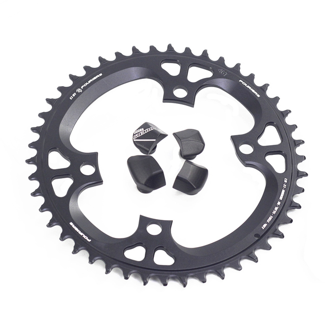 Fouriers Bike Enkele Kettingblad Bcd 110 42T 46 T Smalle Brede Tanden Fit Ultegra R8000 11 Speed 11 S 12 S Racefiets Kettingwiel