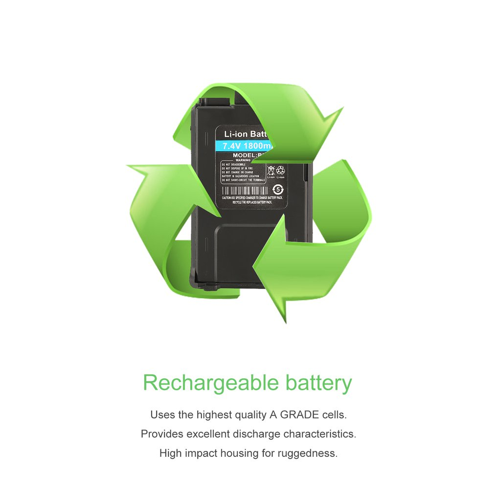 Batterie Li-ion 1800mAh pour Baofeng UV-5R UV-5RE talkie-walkie Radio bidirectionnelle