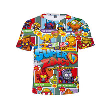 Roda de super zings para niños e niñas, camisa de estilo harajuku, juego clásico de superzings, camisa com estampado 3d, rop