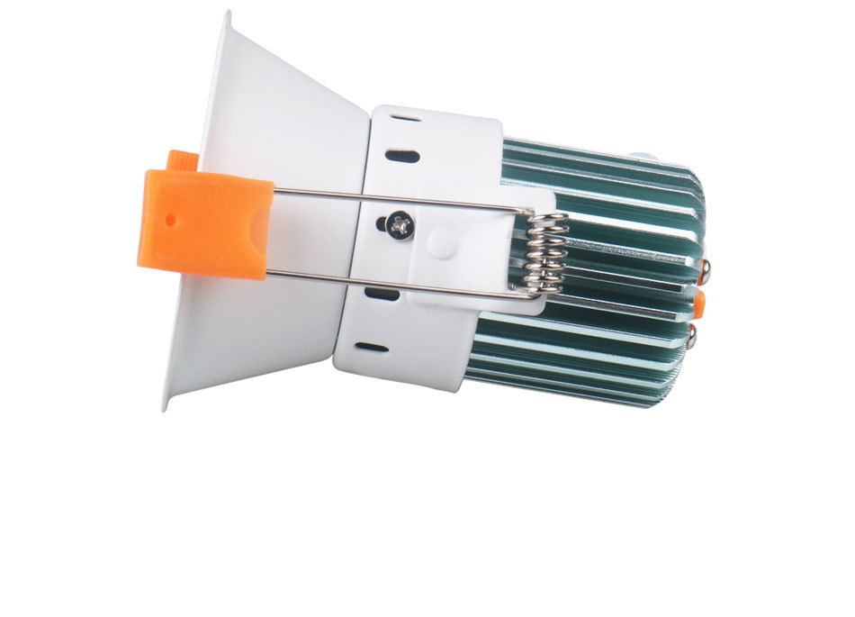 12W 85-265V AC Ceiling Light White Aluminnum Indoor Lighting Led downlight Dimmable COB Spot Lamp Knob Switch Foyer Spotlights (6)