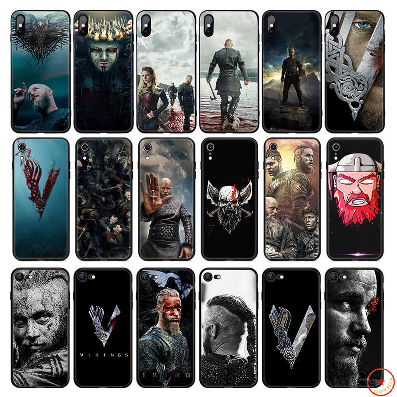 Vikings Tv Toont Zachte Siliconen Telefoon Case voor iPhone 11 Pro Xs Max X of 10 8 7 6 6S Plus 5 5S SE Xr 6 Plus 7Plus 8 Plus Cover