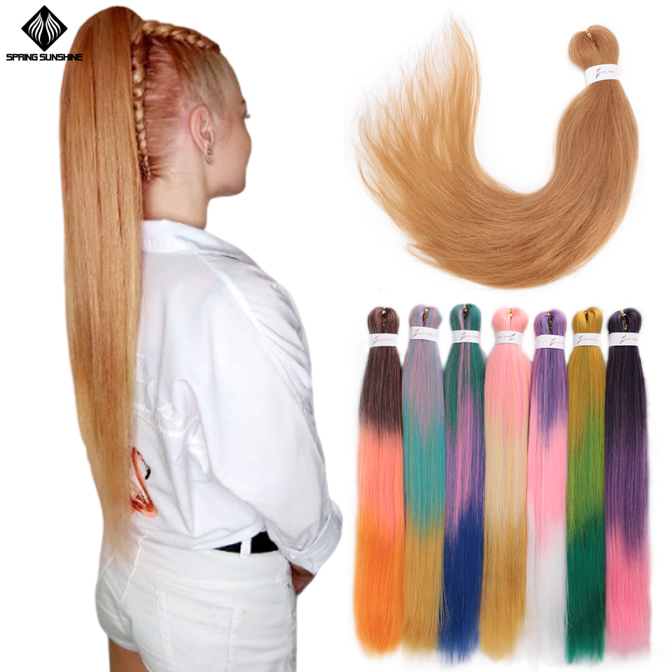 Long Pre Stretched EZ Easy Braid Hair Jumbo Braids Ombre Braiding Hair Synthetic Crochet Hair Extension Low Temperature Fiber