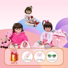 48cm NPK Silicone Reborn Baby Doll Lifelike Newborn Baby Soft Silicon Newborn Dolls Handmade Toddlers Reborn Toys Gift For kids цена
