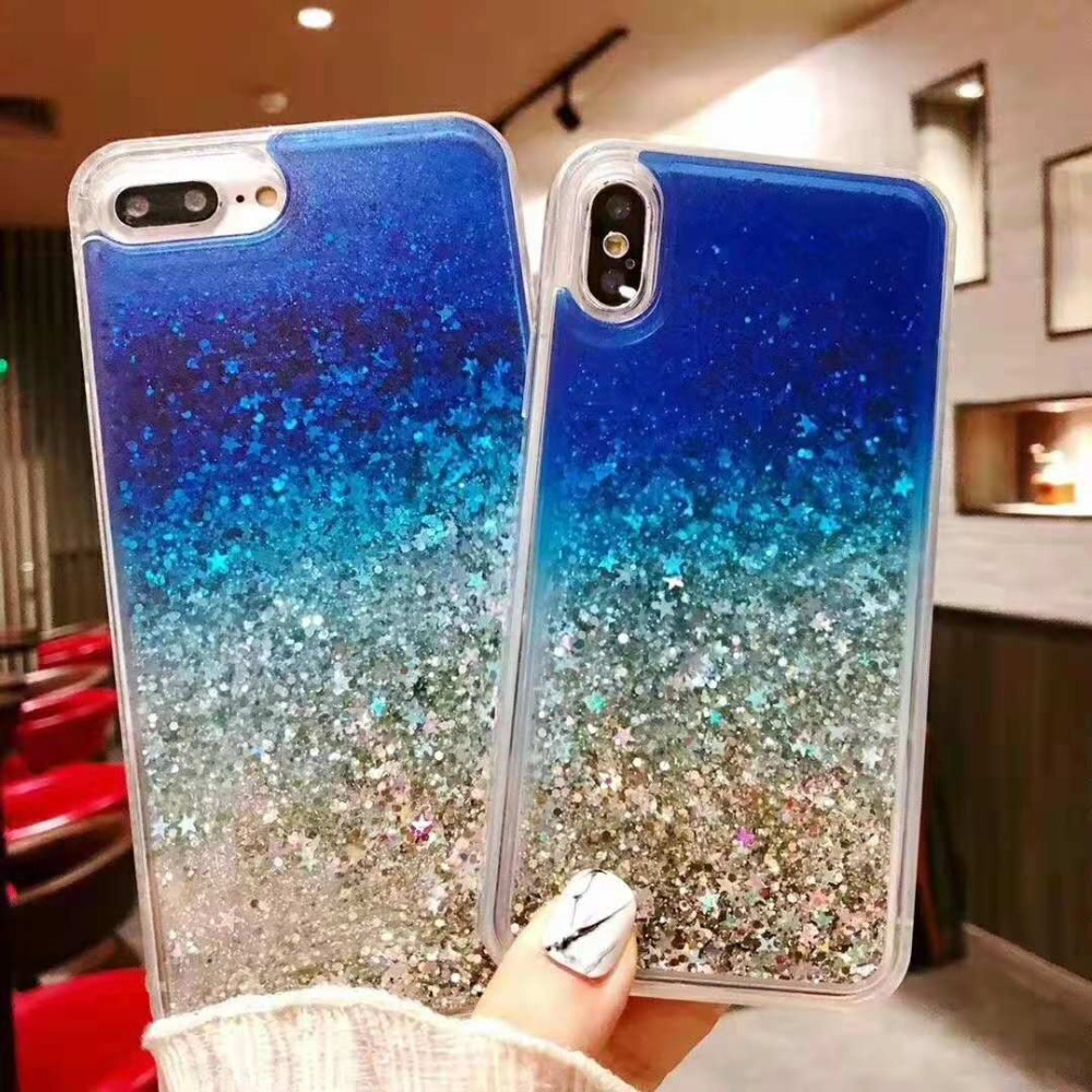 Phone Case For iphone Max X XR XS MAX Liquid Quicksand Cover For iphone 5 5S SE 6S 6 7 8 Plus
