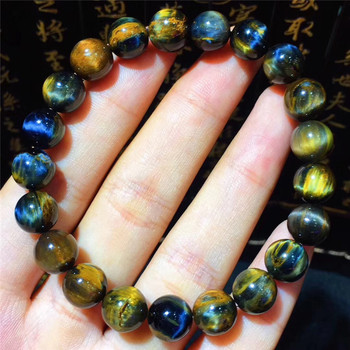 2019 New arrival 9mm-10mm Natural Pietersite Stone Yellow and Blue Color Bracelet for Men and Women's Bracelet High Quality