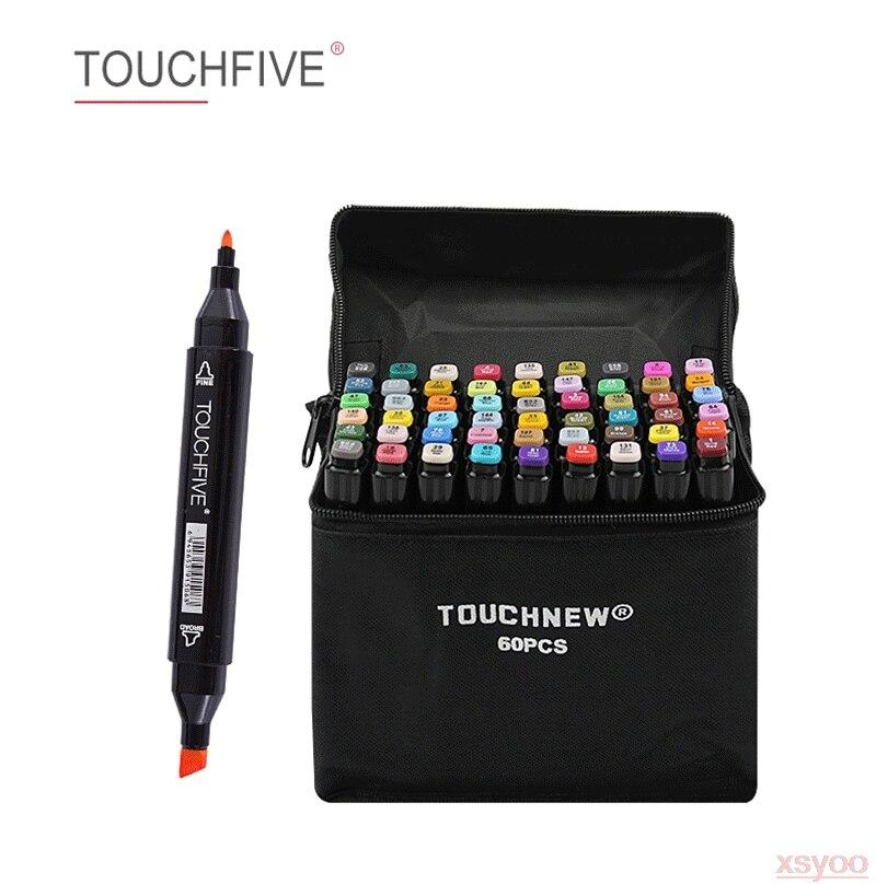 Touchfive 30-168 cores pintura arte marcador caneta