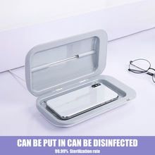 UV מעקר תיבת נייד מסכת UV מעקר חיטוי קבינט תיבת כפפות מנקה נייד סגול כפול טלפון תיבה