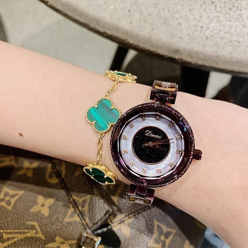 Women Watches Lady Crystal Quartz Watch Stainless Steel Rhinestone Diamond Wristwatches Girls Female relogio feminino 4 Colors