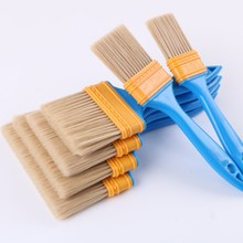 Blue Plastic Handle Tufted Nylon Yarn Paint Brush Car Cleaning Brush