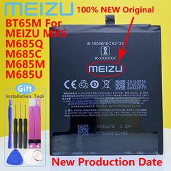 Meizu 100% Original 3060mAh BT65M Battery For Meizu MX6 Mobile Phone Battery With Tracking Number