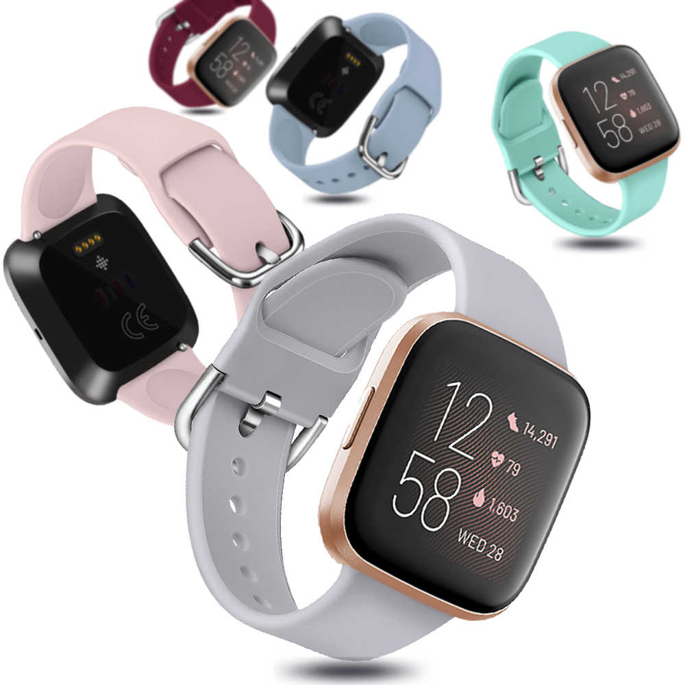 Colorato Classico di Ricambio Wristband Morbido Silicone Del Cinturino di Vigilanza Della Fascia Del Braccialetto per Fitbit Versa 2 1 Lite Smart Accessori per Orologi