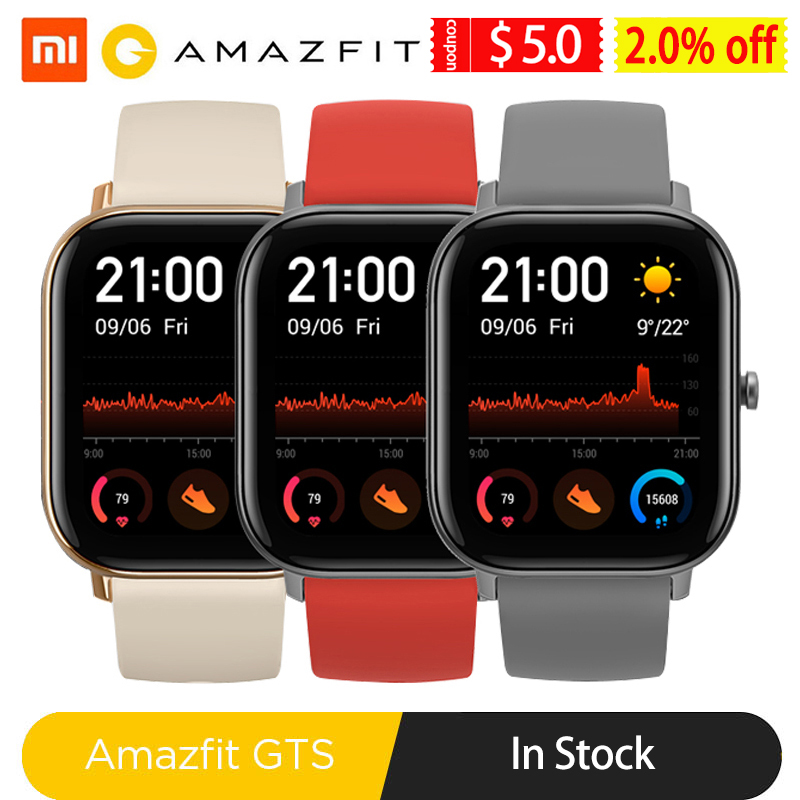 Global Version Amazfit GTS Smart Watch Men Women 5ATM Waterproof Swimming Pressure Smartwatch for Xiaomi Android Phone IOS|Smart Watches| | - AliExpress