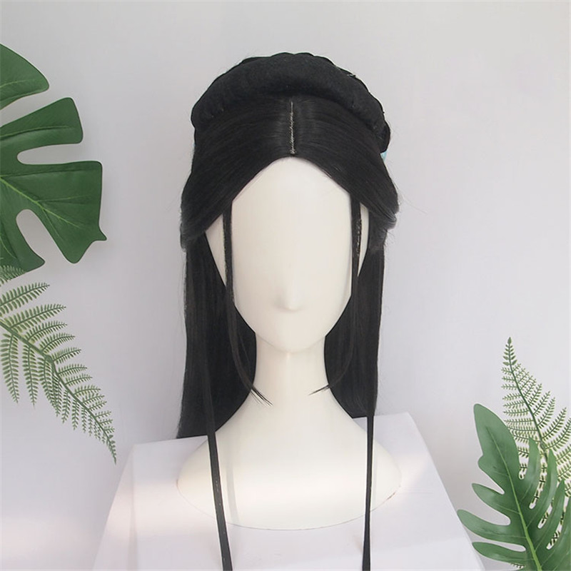 WEILAI Stylish Wig Han Dynasty Ancient Style Wig Ancient Costume Versatile Daily Used Braided Wigs Wigs For Women Synthetic Wig