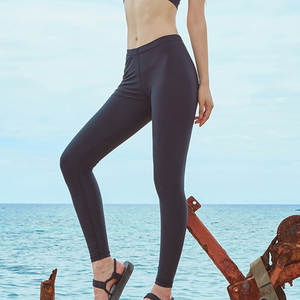 Black And Long Bathing Suit Leggings Swimming qian shui ku Surfing Drifting Conservative Versatile Bathing Suit Leggings Men And