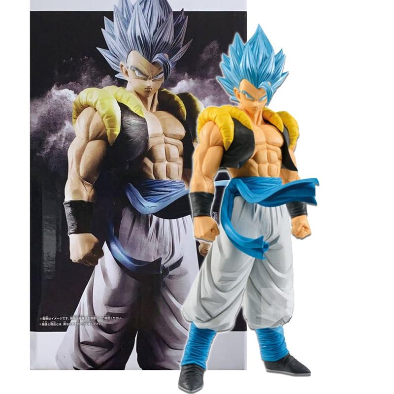 Dragon Ball Super Blue Gogeta Grandista ROS PVC Action Figures Anime Dragon Ball Z Goku Vegeta Gogeta Figurine Model Toy DBZ