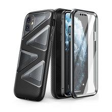 """Para iphone 11 caso 6.1 """"(2019 liberação) supcase ub labirinto capa protetora híbrida premium de corpo inteiro com protetor de tela embutido"""