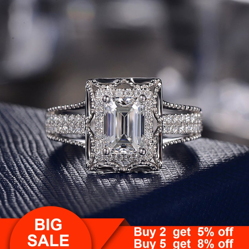 2019 Luxury 925 Sterling Silver Promise Ring Princess Cut Aaaaa Cz Stone Engagement Wedding Band Rings For Women Bridal Jewelry Best Offer D6fbee Cicig